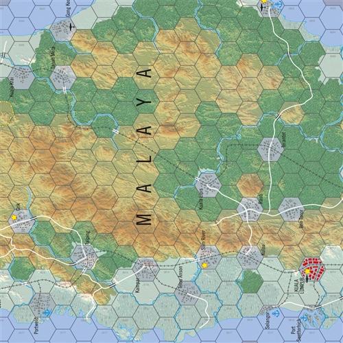 HEXASIM-World at War 51: Pacific Battles: Malaya