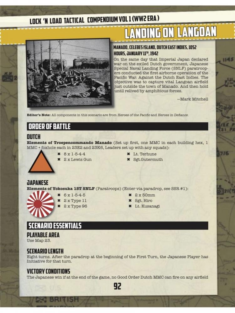 HEXASIM-Lock 'n Load Tactical Compendium Vol 1 WW2 Era