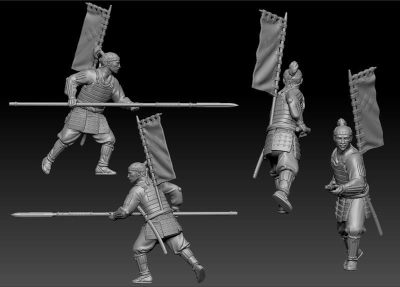 Hexasim 20mm Samurai Battles Ashigaru With Yari